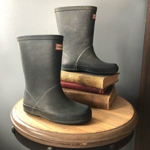 navy hunter rain boots us 10
